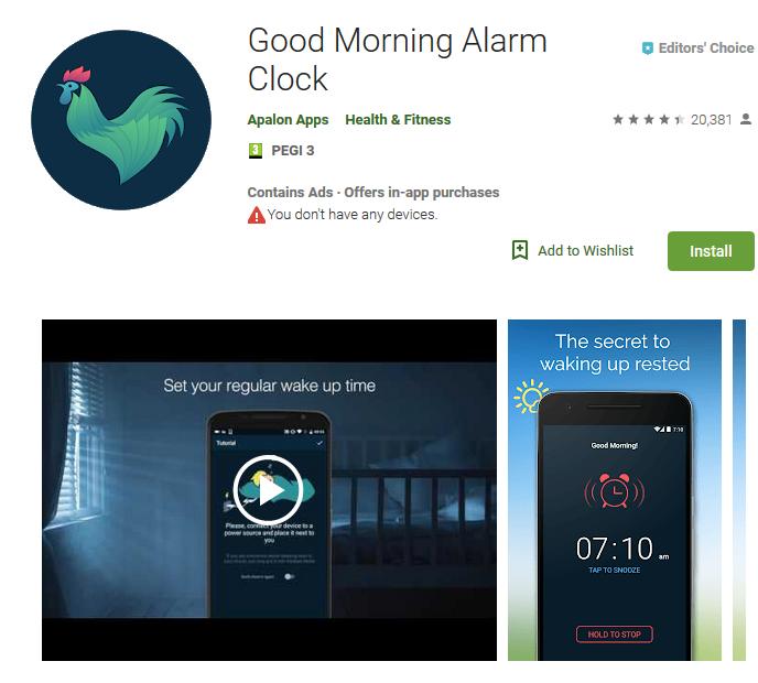 wake up app
