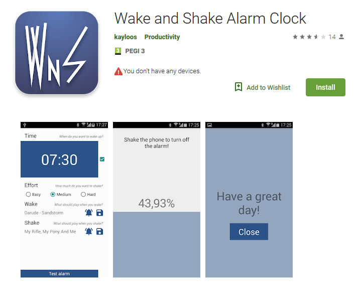 wake up apps